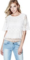 GUESS Women's Asha Crochet-Lace Top