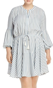 Aqua Curve Striped Dress with Tassel Waist - 100% Exclusive