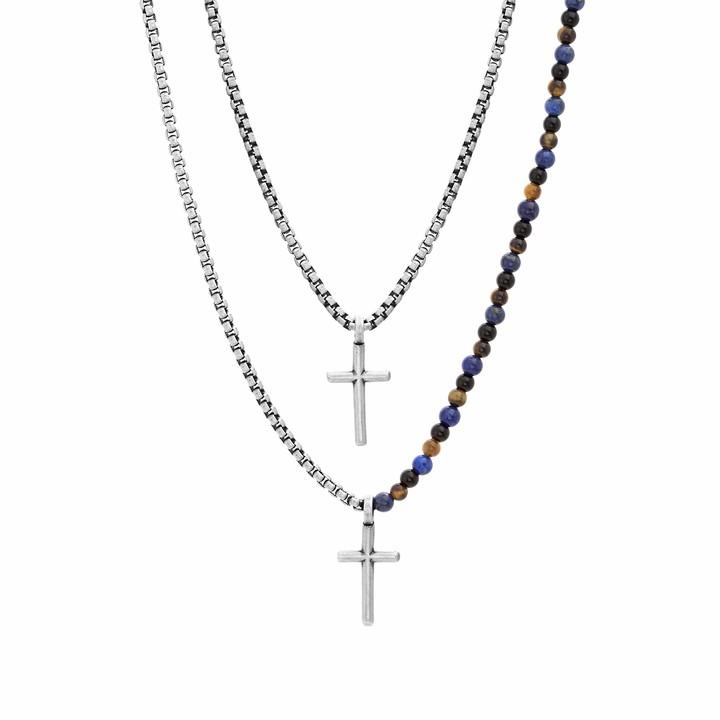 Mens Double Chain Necklace Shopstyle