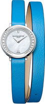 Baume & Mercier 10288 Petite Promesse leather and diamond watch