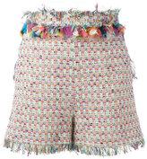 MSGM embroidery shorts - women - Cotton/Linen/Flax/Acrylic/Metallic Fibre - 40