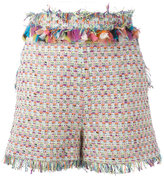 MSGM embroidery shorts - women - Cotton/Linen/Flax/Acrylic/Metallic Fibre - 42