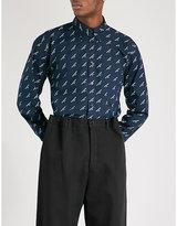 Balenciaga Logo-print Regular-fit Cotton Shirt