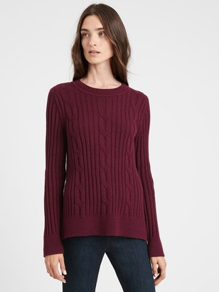 Banana Republic Chunky Cable-Knit Sweater
