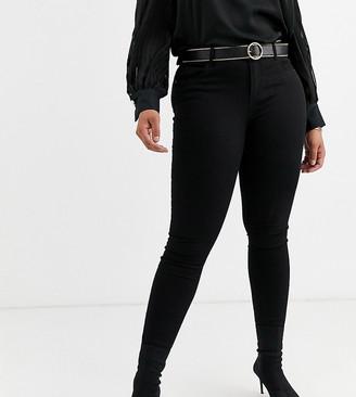 Vero Moda Curve skinny denim jeans in black
