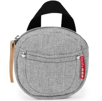Skip Hop Grab & Go Pacifier Pocket, Grey Melange