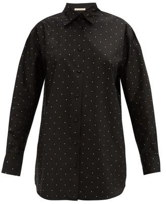 Christopher Kane Oversized Crystal-embellished Shirt - Black