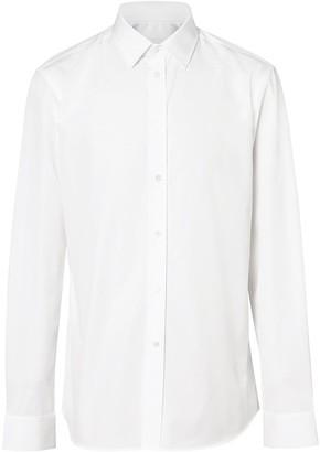 Burberry Slim Fit Monogram Motif Poplin Shirt