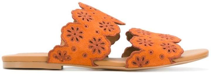See by Chloe scalloped flat sandals