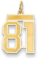 goldia 14k Gold Medium Satin Number 81 Charm