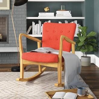 Brayden Studio Sauceda Fabric Rocking Chair Fabric: Muted Orange