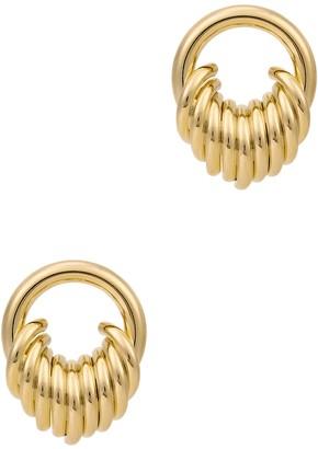 Fallon Stacked Gold-tone Drop Earrings