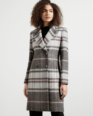 Ted Baker Chevron Wool Midi Coat