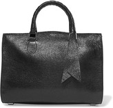 Rochas Saint glossed textured-leather tote