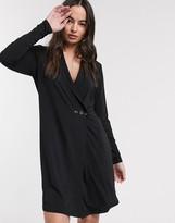 Ichi soft wrap tuxedo dress
