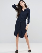 Vila Midi Belted Shirt Dress