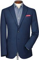 Charles Tyrwhitt Classic Fit Indigo Herringbone Cotton Jacket Size 42 Regular