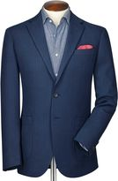 Charles Tyrwhitt Classic Fit Indigo Herringbone Cotton Jacket Size 42