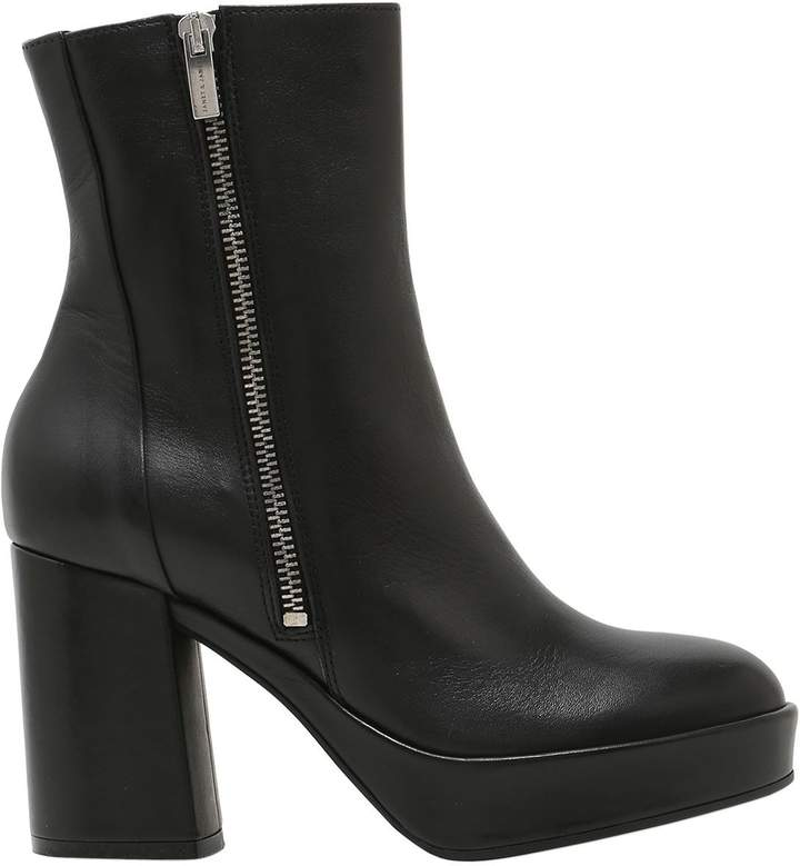 Janet & Janet 75mm Zipped Leather Boots