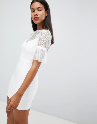 Rare London tulle sleeve mini dress