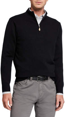 Neiman Marcus Men's Cloud Cashmere Quarter-Zip Sweater