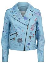 Mira Mikati Doodle Leather Biker Jacket