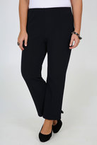 Yours Clothing Navy Pull On Ribbed Bootcut Trousers