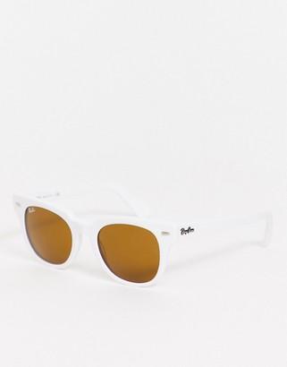 Ray-Ban 0RB2168 Meteor wayfarer sunglasses in white