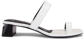 Alexander Wang Ellis Croc Embossed Sandal in White | FWRD