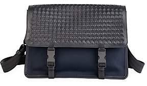 Bottega Veneta Men's Tech Canvas Messenger Bag