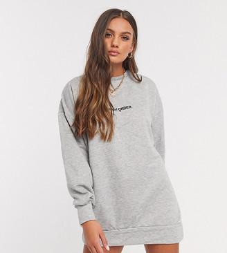 New Girl Order Petite logo sweater dress