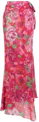 AMIR SLAMA Floral Print Skirt
