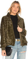 Sanctuary Furry Chubby Faux Fur Bomber