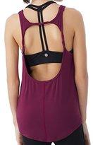 Queenie Ke Womens Prime Yoga Sport Tank Top Vest Super Soft Cowl Back Size L Color