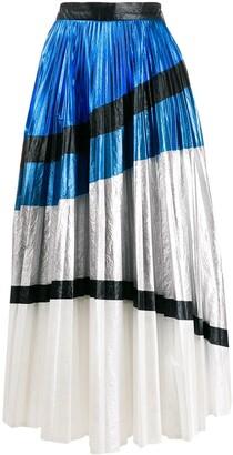 Christopher Kane Colour Block Pleated Skirt