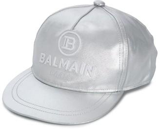 Balmain Kids Embroidered Logo Cap