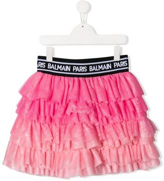 Balmain Kids TEEN branded glitter tutu