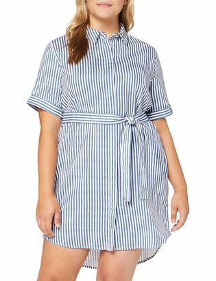 Pieces Women's Pcaggi 2/4 Shirt Dress Sa Bc