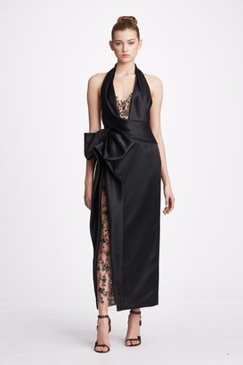 Marchesa Embellished Organza and Satin Sleeveless Gown