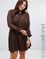 Alice & You Lace Insert Shirt Dress
