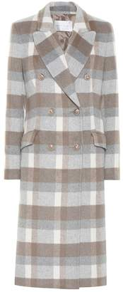 Rebecca Vallance Vivian checked wool-blend coat