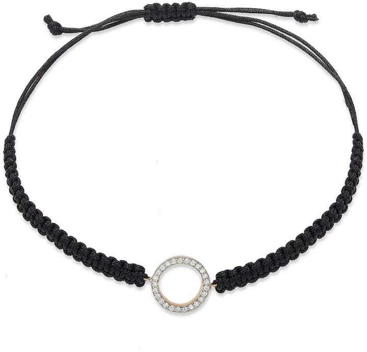 Macy's Diamond Circle Parachute Cord Bracelet in (1/6 ct. t.w.)
