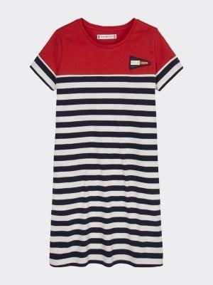 Tommy Hilfiger Stripe Print T-Shirt Dress