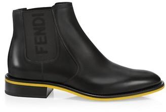 Fendi Logo Chelsea Boots