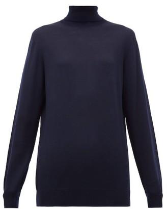 Hillier Bartley Roll-neck Merino Wool Sweater - Womens - Navy