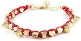 Ettika MetallicThread Bracelet in Red