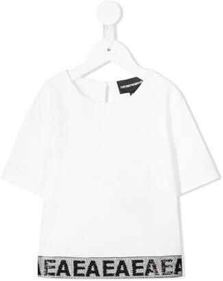 Emporio Armani Kids Logo Stripe Blouse