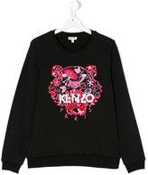 Kenzo Tiger embroidered sweatshirt - kids - Cotton - 14 yrs
