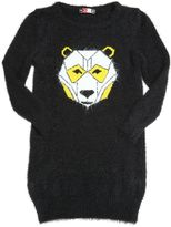 MSGM Bear Brushed Knit Sweater Dress