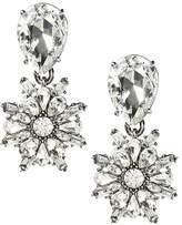 Banana Republic Crystal Floral Pear Drop Earring